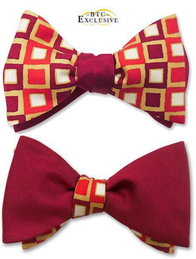 bow ties american made red silk squares