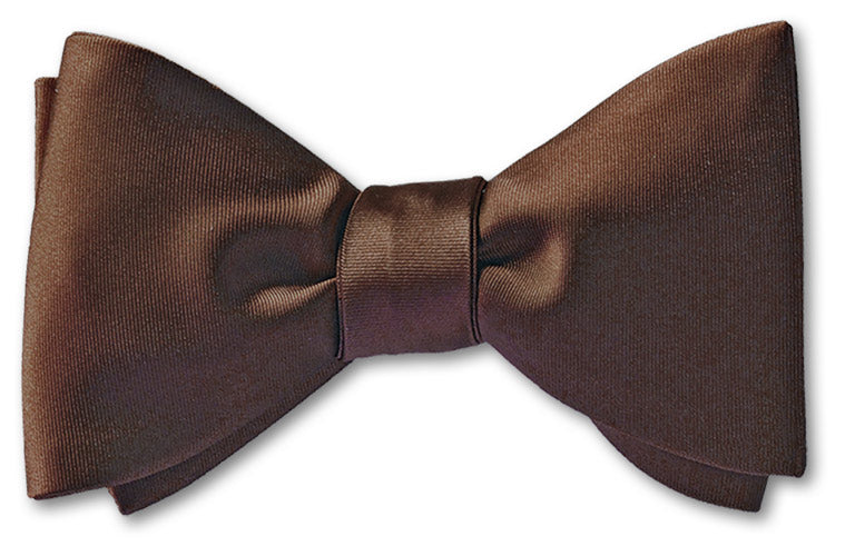 Dark Brown Satin Bow Tie