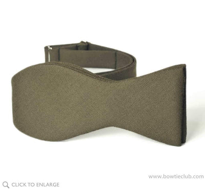 Deep Olive Green Wool Bow