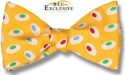 bow ties american made yellow ovals silk