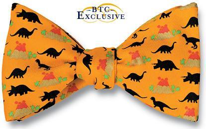 bow ties dinosaurs trex american made orange