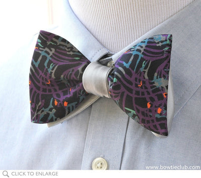 purple two-tone bow tie