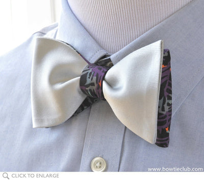 reversible bow tie on shirt