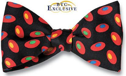 bow ties designer american made black silk ovals