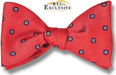 bow ties designer american made red silk florets