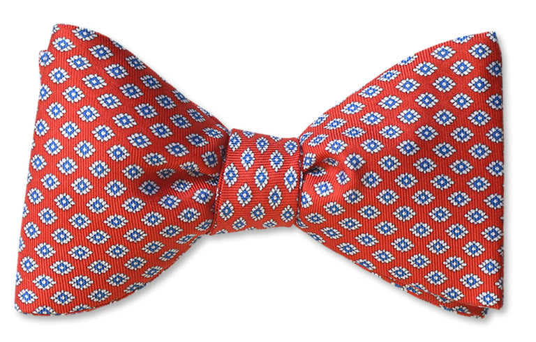 Italian Silk Red Power Bow Tie