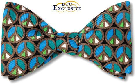 Peace sign bowties