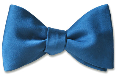 French Blue Satin Pre-tied
