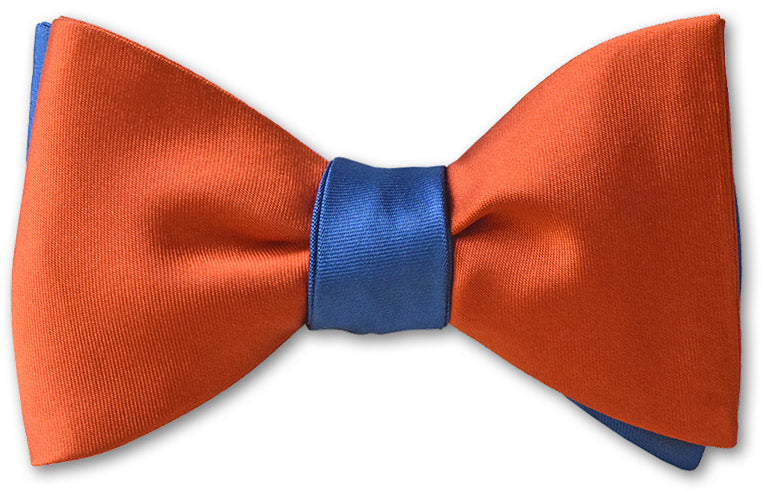 French Blue/Orange Satin Reversible