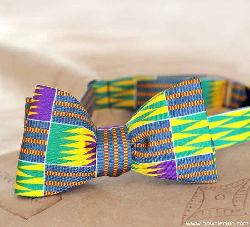 African Fabric Bowtie