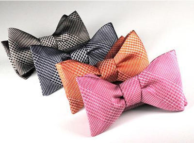 Blue Glen Plaid Silk Woven Bow Tie