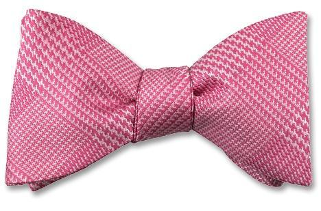 Pink Glen Plaid Silk Bow Tie