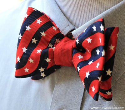 patriotic striped bow tie
