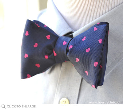Valentine's Day Heart bow tie on shirt