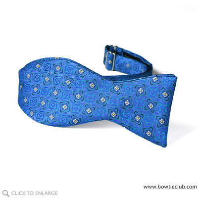 tie your own freestyle Hudson Woven Blue and Teal Dapper bow tie.