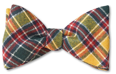 Jacobite Modern Authentic Scottish Wool Tartan Bow Tie