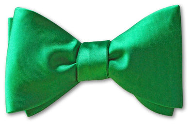 Kelly Green Satin Pre-tied