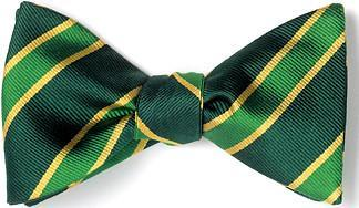bow ties american made green silk bow tie