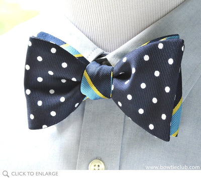 2 panel navy bow tie