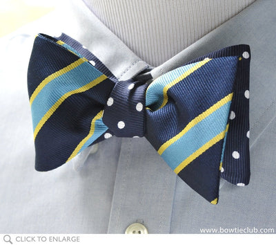 reversible navy bow tie