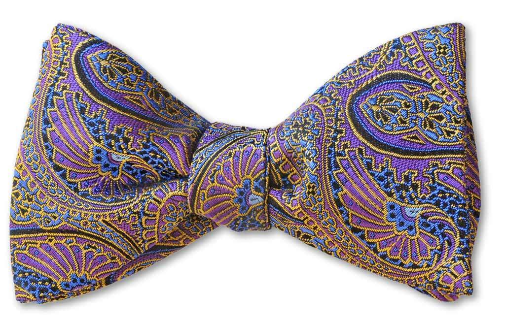 Purple Paisley Best Bow Tie Gift