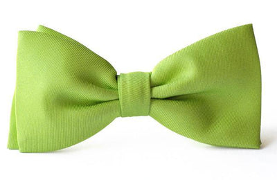 Bow Ties Kids Boys Apple Green Silk Clip-on Wedding