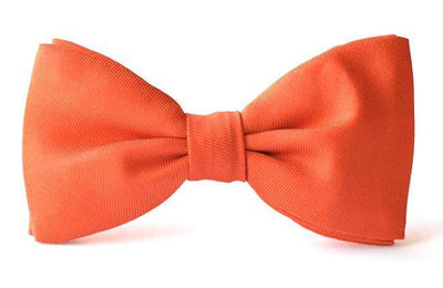 Bow Ties Kids Boys Coral Silk Clip-on