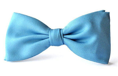 Bow Ties Kids Boys Light Blue Silk Clip-on