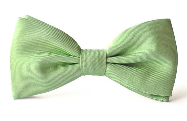 Bow Ties Kids Boys Soft Green Silk Clip-on