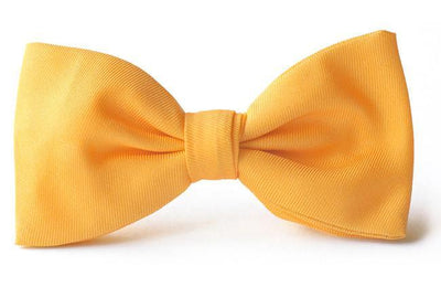 Kids Yellow silk clip on bow tie