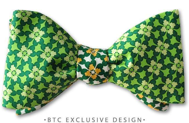 2baff0fc7c4a St Patrick's Day Bow Ties Irish Clover American Made | Kilkenny