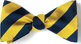 bow ties american made yellow navy stripes