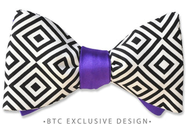 reversible purple bow tie