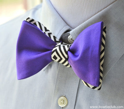 fusion purple bow tie