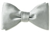 Light Grey Satin Bow Tie