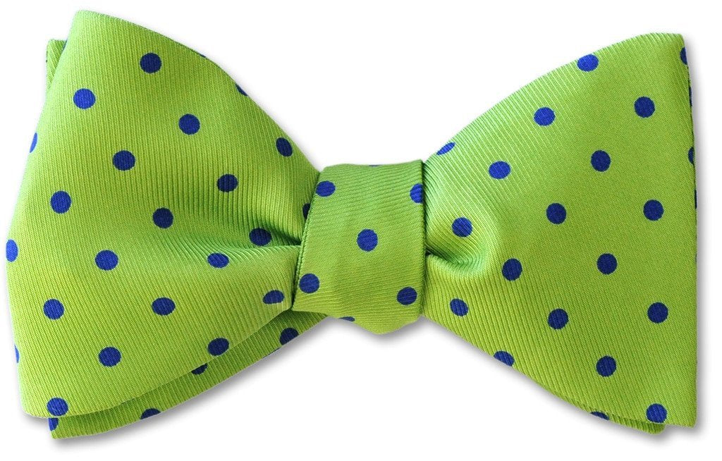 Lime Green Polka Dots Bow Tie