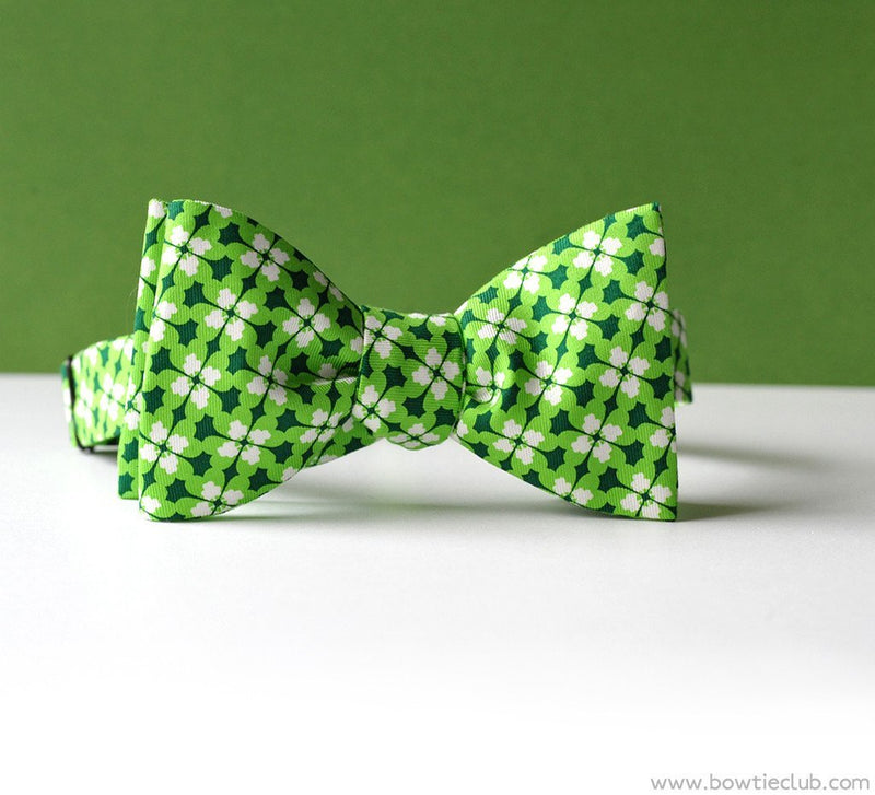 St Patrick's Day bow ties Irish green clover | Limerick