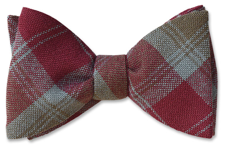 Lindsay Weathered Wool Tartan Bow Ties