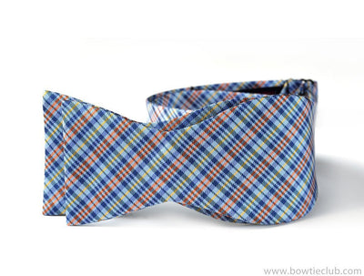 Blue Plaid Bow Ties | Loch Skae