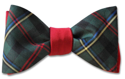 Reversible Malcolm Tartan And Red Bow Tie
