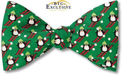 bow ties christmas holiday penguin ski american made