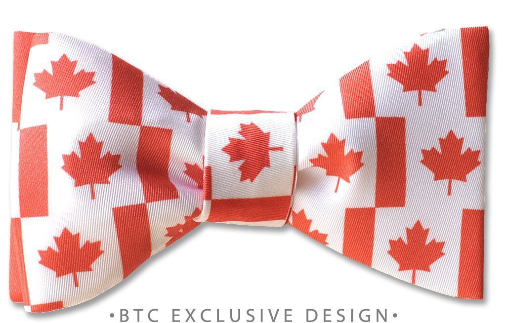 Canada Maple Leaf Flag Pre-tied Bow Tie
