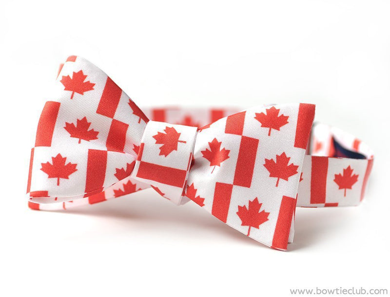 Canada Maple Leaf Bow Tie
