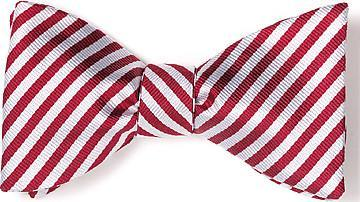 bow ties american made red white stripes