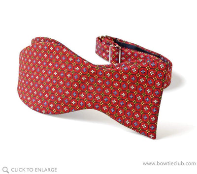 english neat red bow tie