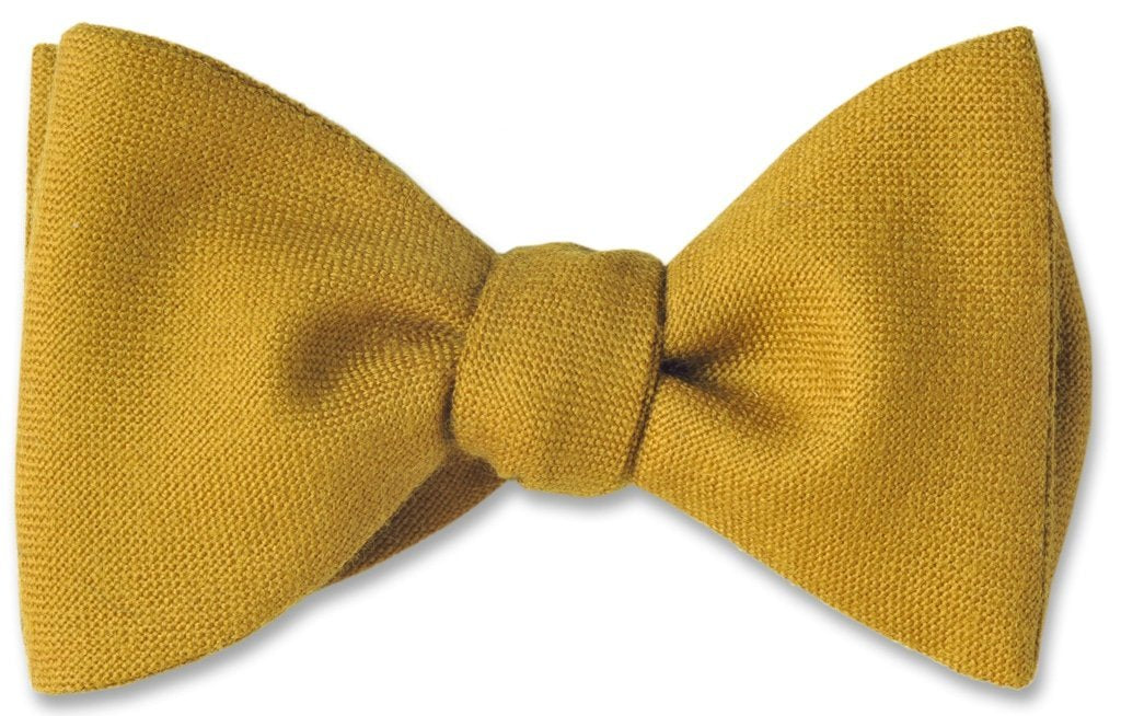 Mustard Yellow Scottish Wool Bow Ties