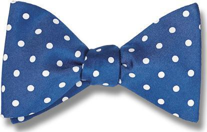 Blue White Polka Dots Bow Tie |Nantucket