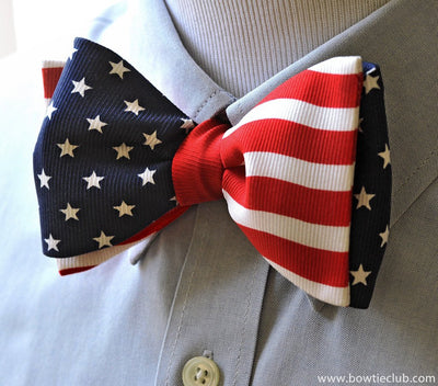 patriotic flag bow tie