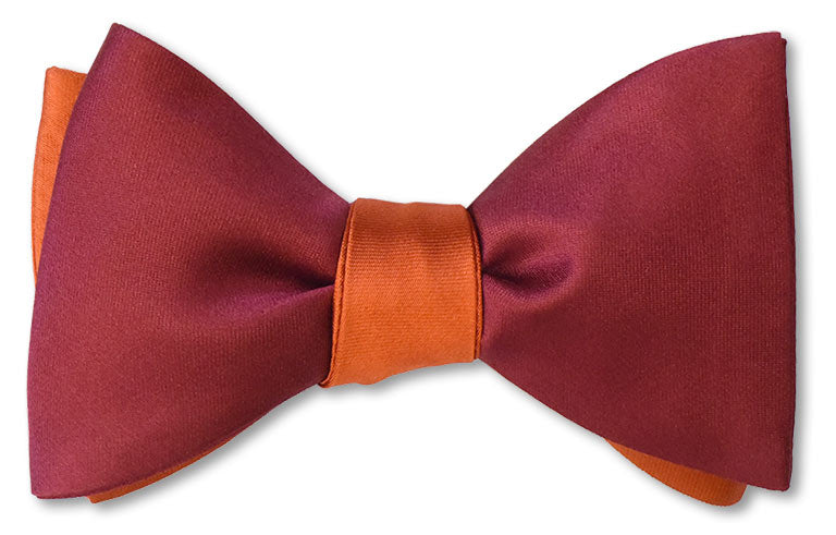 Orange/Burgundy Satin Reversible