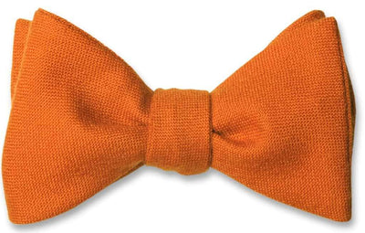 Orange Wool Bow Tie